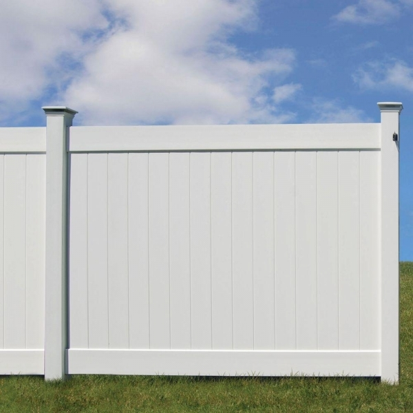 Alluring Home Depot Plastic Fencing Veranda 6 Ft H X 8 Ft W White Vinyl Linden Pro Privacy Fence