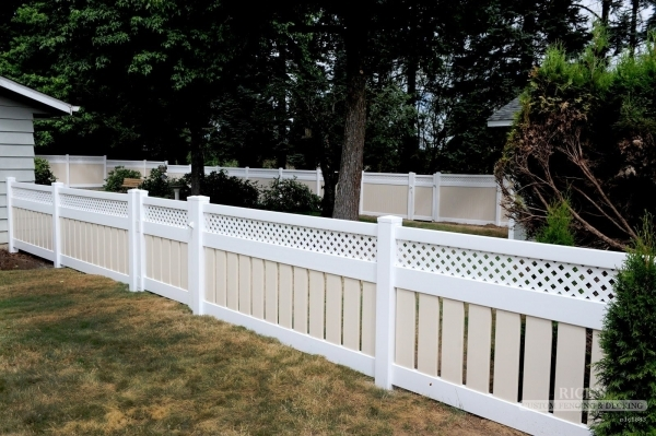 Alluring Vinyl Fence Styles Vinyl Fence The Northwest39s Source For Fencing Amp Decking Deals