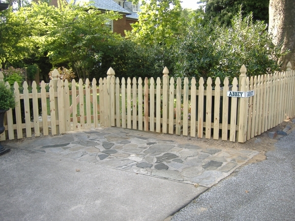 Wood Picket Fence Panels