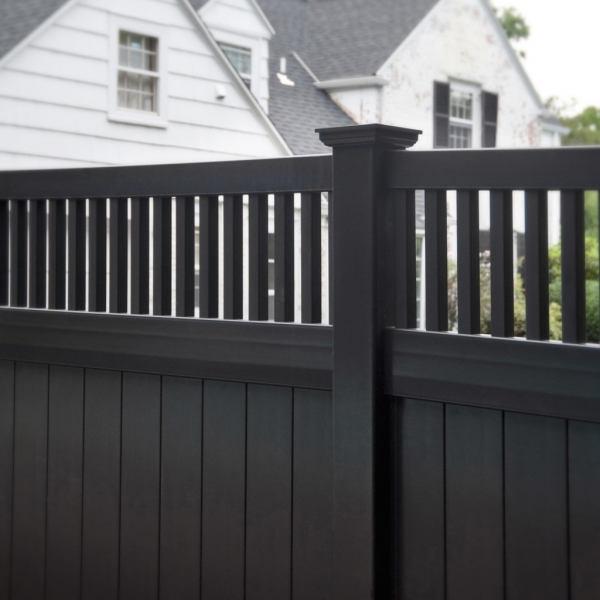 Awesome Black Wood Fence Black Vinyl Fence Panels Installing Vinyl Fence Panels Design