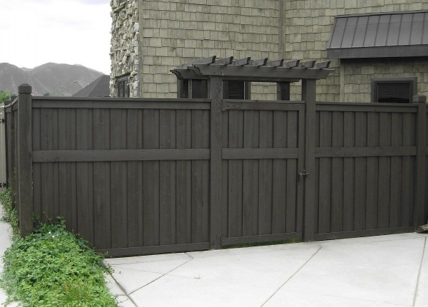 Beautiful Black Wood Fence Fences And Gates On Pinterest Fence Wood Fences And Trellis