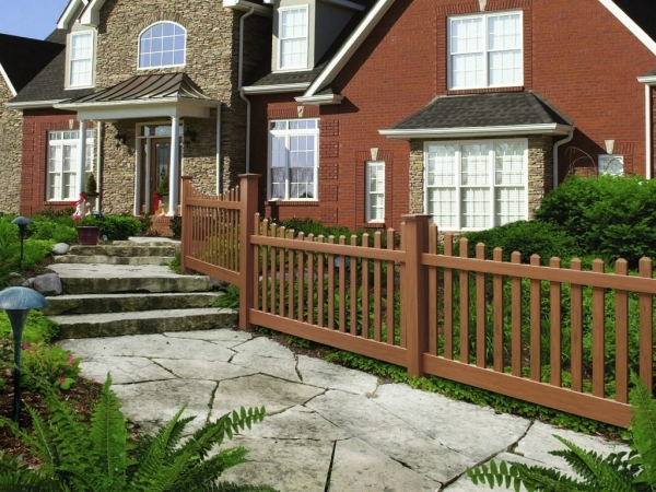 Brown Vinyl Fencing