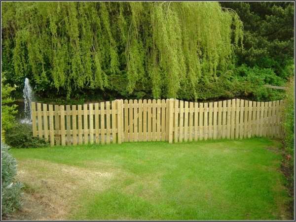 Delightful Wood Garden Fence Country Garden Fence Theme From Pine Wood 2847 Hostelgarden