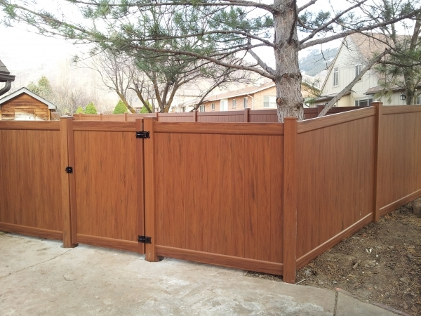 Fantastic Wholesale Vinyl Fencing Excellent Wood Grain Style Vinyl Privacy Fence For Wood Grain