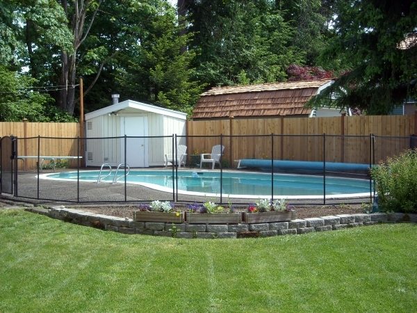 Fascinating Pool Privacy Fence Pool Fence Easy Diy Installation Sentry Visiguard Mesh Fencing