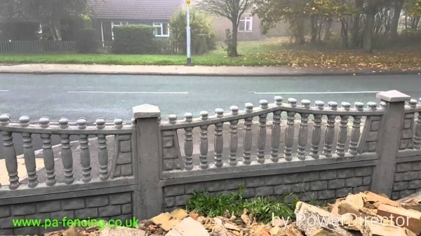 Gorgeous Concrete Fence Panels Pampa Fencing Decorative Concrete Fence Panels Uk Youtube