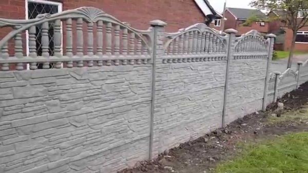 Gorgeous Concrete Fence Panels Pampa Fencing Decorative Concrete Fence Panels York Youtube