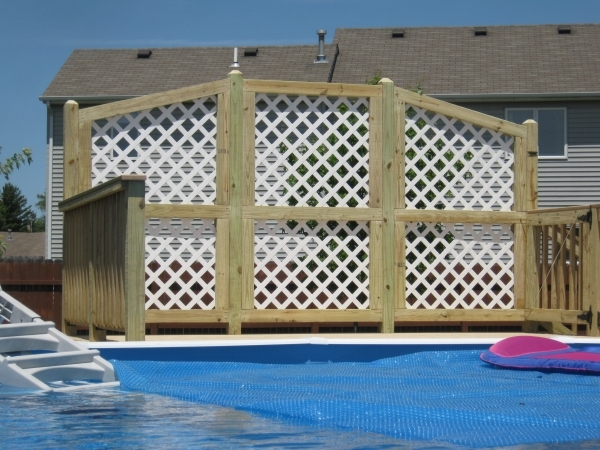 Gorgeous Pool Privacy Fence Have Archadeck Of Ft Wayne Build Your Pool Deck Archadeck Of