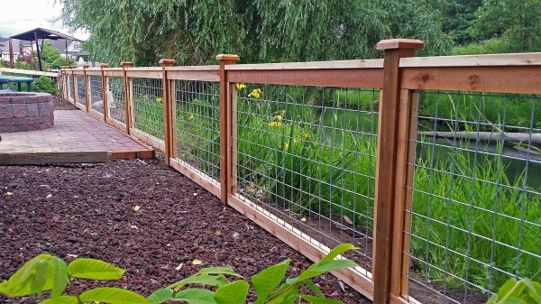 Gorgeous Wood And Wire Fence Designs Services Cedar River Construction Make Your Fence Of Deck Happen