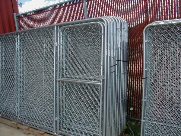 Image of Chain Link Fence Panel Dog Kennels Fence It