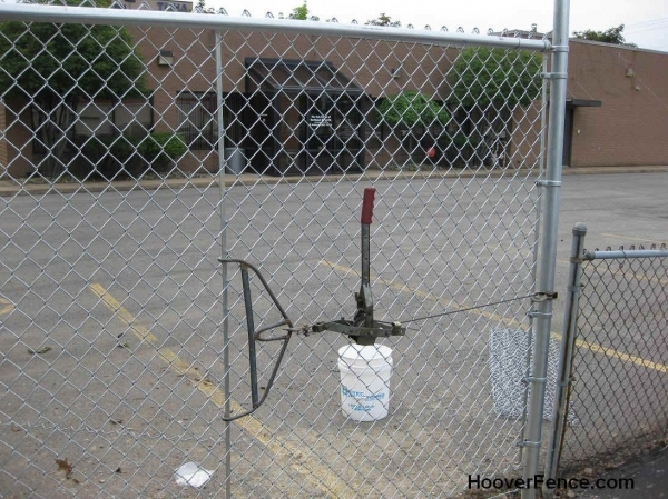 Image of Chain Link Fence Tension Wire Chain Link Fence Installation Manual Page 7 Stretching Chain