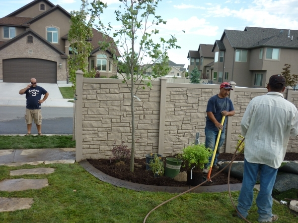 Image of Vinyl Fence Contractors Fencing With Vinyl Fence And Wrought Iron Contractors And