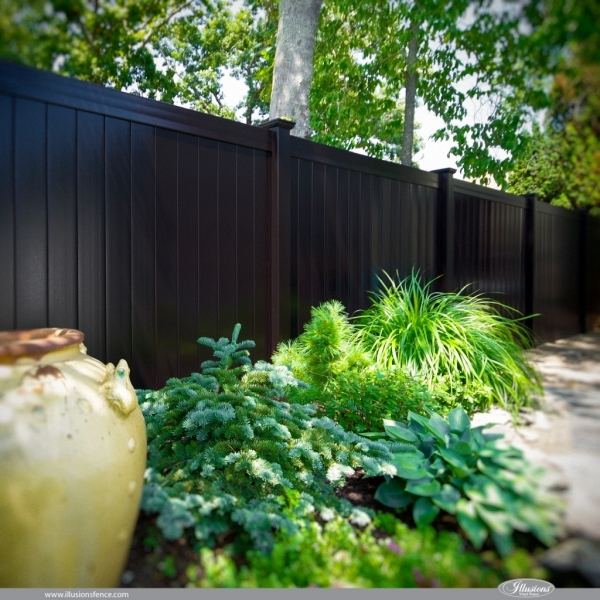 Black Wood Fence