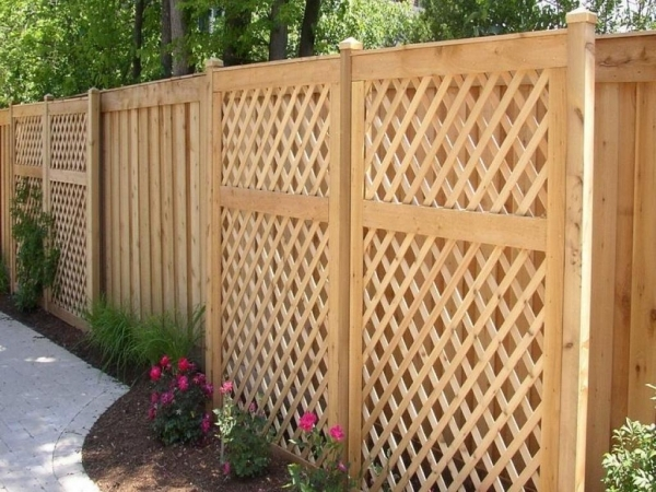Inspiring Wood Garden Fence Lift Up Tight Privacy Installing Wood Fence Designs Drawhome