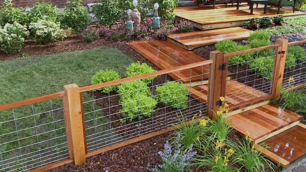 Marvelous Wood And Wire Fence Designs Install A Hog Wire Fence Video Diy