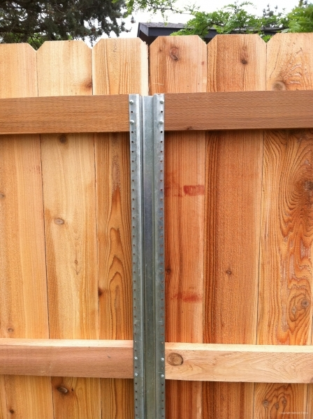 Metal Fence Post For Wood Fence