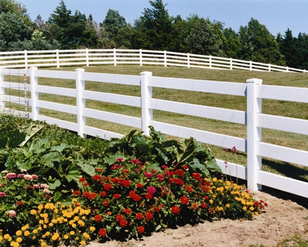 Picture of 4 Rail Vinyl Fence Arrow Fence Amp Shelter Vinyl Gallery Fences Oklahoma City