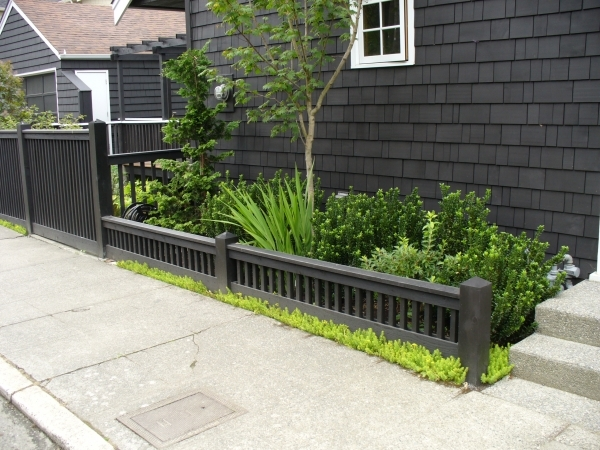 Remarkable Black Wood Fence Black Wood Fence Fences