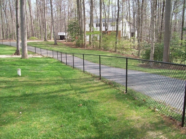 Remarkable Chain Link Fence Tension Wire Completed Chain Link Fences In Richmond Va Gallery Fence