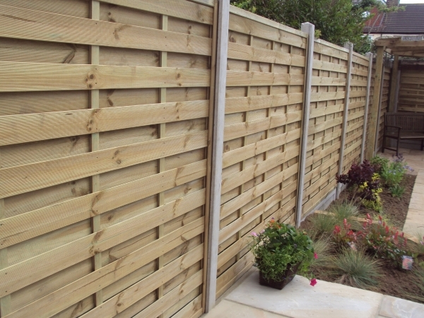 Stunning Concrete Fence Panels Fencing Little Acorns Landscapes