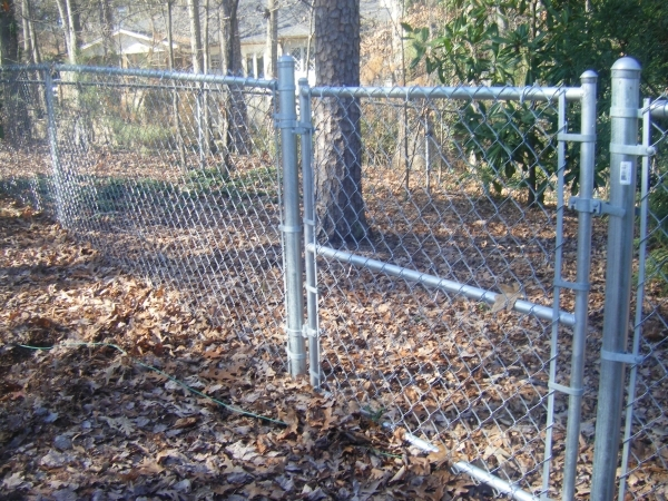 Galvanized Black Chain Link Fencing Fencing The Home Depot