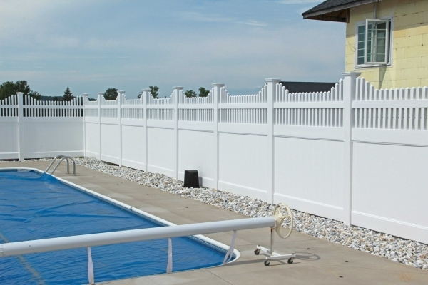 Stunning Pool Privacy Fence New York Mills Pool Fence Project Poly Enterprises