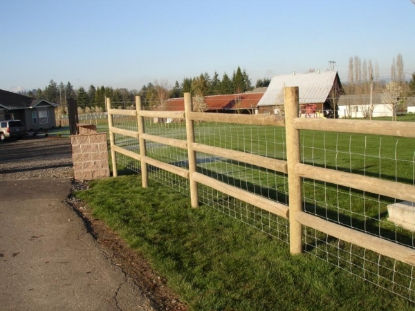 Wonderful Round Wood Fence Posts Rail Fencing