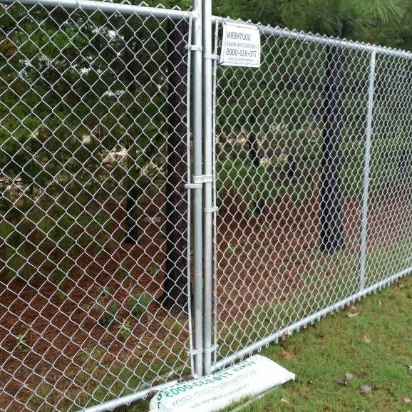 Alluring Chain Link Fence Panels Chain Link Fence Panels Portable Fencing Southern Fence Co