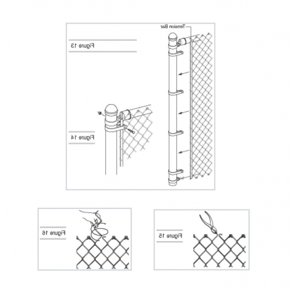 Delightful How To Install Chain Link Fence Install A Chain Link Fence