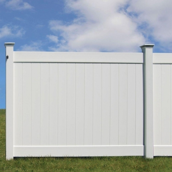 White Vinyl Fence Panels