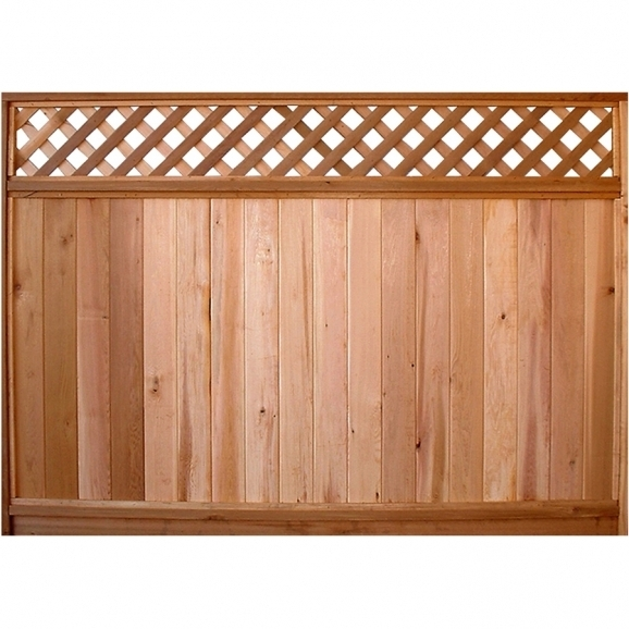 Red Cedar Fence Panels
