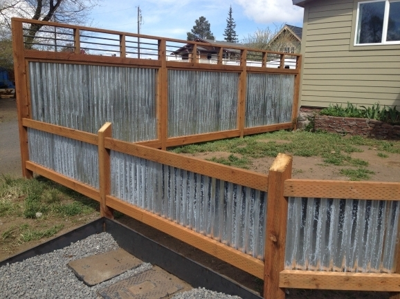 Galvanized Fence Panels