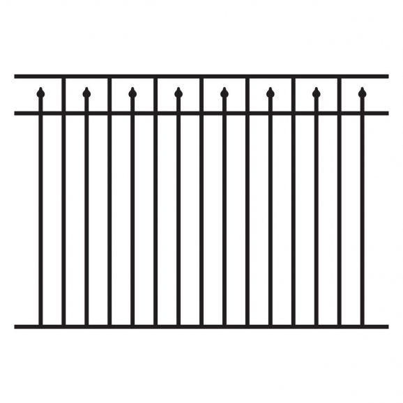 Black Metal Fence Panels