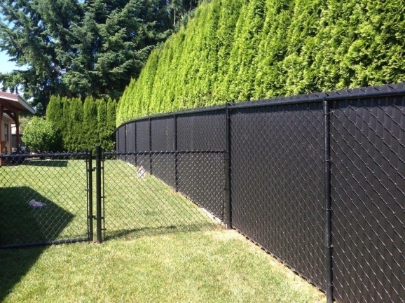 Chain Link Fence Black