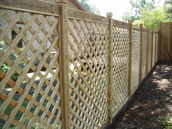 Wood Lattice Fence Panels