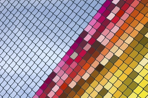 Chain Link Fence Decorations