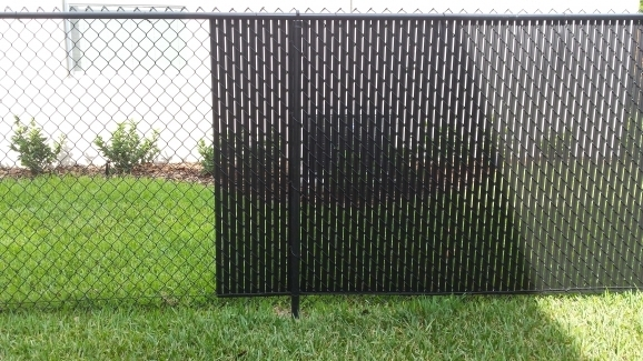 Chain Link Fence With Slats