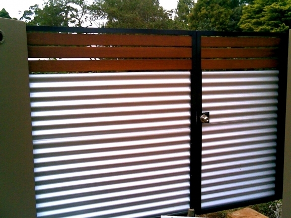 Corrugated Metal Fencing