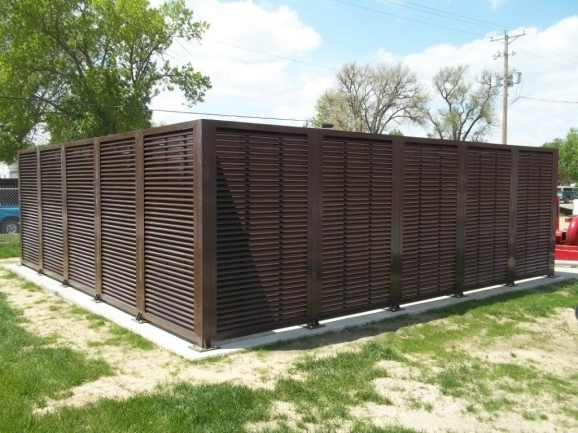 Stylish Louvered Fence Panels Louvered Fence Systems The American Fence Company