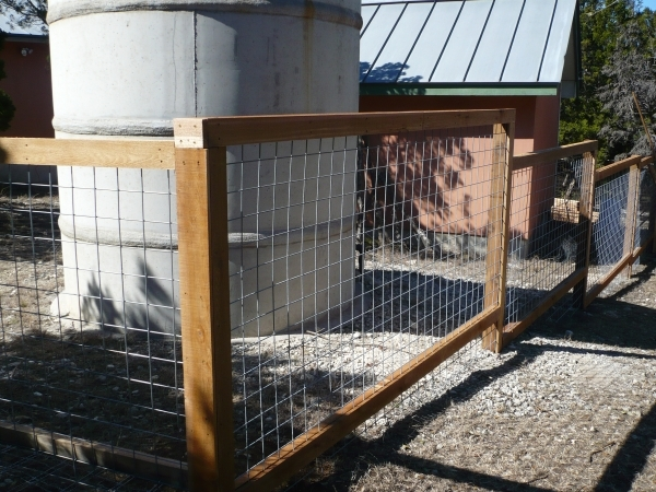 Wire And Wood Fence