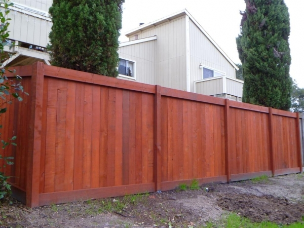 Red Wood Fence