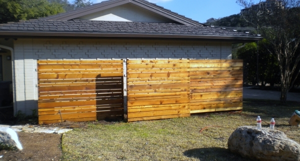 Incredible Wood Slat Fence Wood Fence Privacy Fence Fence Installation Austin