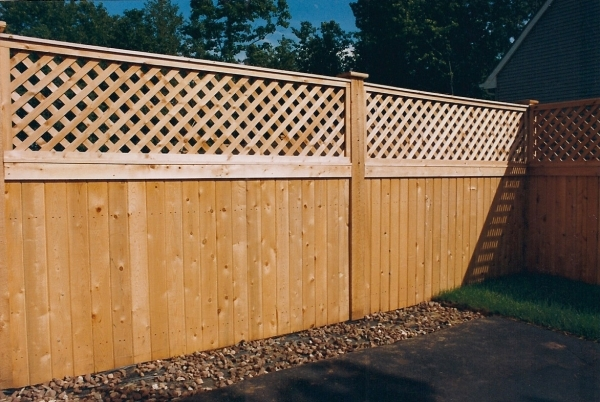 Picture of Wood Lattice Fence Wood Fence