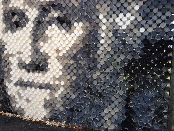 Chain Link Fence Art