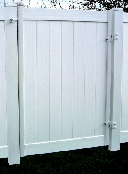 White Vinyl Fence Gate