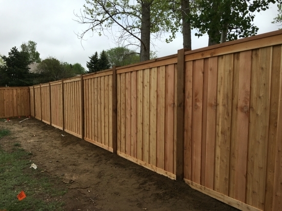 Delightful 6 Privacy Fence 7 Tall Cedar Privacy Fence With 6x6 Posts 2x6 Top Cap 6